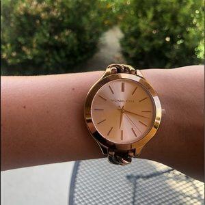 Rose gold MK watch!